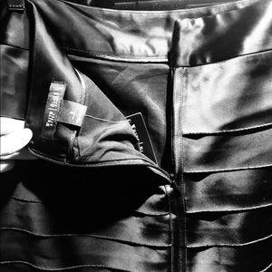 Satin black skirt